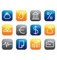 financial symbols vector image vector image