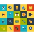 Flat icons set 24 vector image