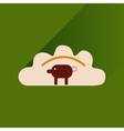 Flat with shadow Icon dumplings and pork vector image vector image