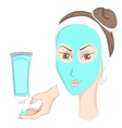 Girl with make up Face mask vector image