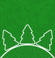 Green paper cut-out set Christmas tree vector image