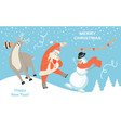 greeting banner for christmas and new year vector image vector image