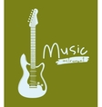 guitar electric isolated icon design vector image