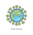 hand drawn mother earth day ecology care vector image vector image