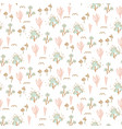 handdrawn seamless tiny floral pattern light vector image vector image