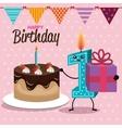 happy birthday celebration card vector image vector image