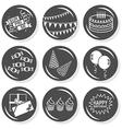 Happy birthday icons vector image vector image