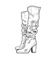 high women boots sketch vector image vector image