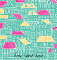 home sweet home sketch doodle pastel color vector image