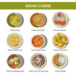 indian cuisine traditional dishes flat vector image vector image