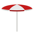 isolated summer umbrella icon vector image vector image