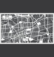jinan china city map in retro style outline map vector image vector image
