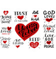 logo set with bible verse and christian quotes you vector image vector image