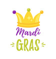 mardi gras greeting card vector image vector image