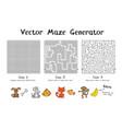 maze game generator vector image
