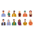 multiracial and multicultural society portraits vector image vector image