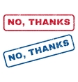 No Thanks Rubber Stamps vector image vector image