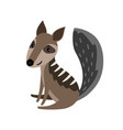 numbat grey cartoon icon vector image vector image