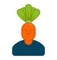 office vegetables garden manager of carrots vector image vector image