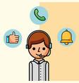 operator man character customer service vector image vector image