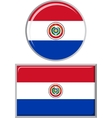 Paraguayan round and square icon flag vector image vector image