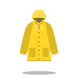 raincoat yellow icon flat design of rain coat vector image vector image