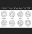 round outline concept of creative process vector image vector image