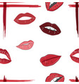 seamless pattern of lip images vector image