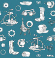 seamless pattern with steampunk attributes and vector image
