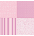seamless pink patterns vector image