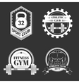 set logo for sport athletic club vector image