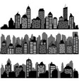 set of different black horizontal night cityscape vector image vector image