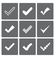 Set of different check marks or ticks vector image vector image
