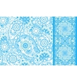 Set of seamless pattern based on traditional Asian vector image vector image