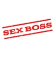 Sex Boss Watermark Stamp vector image vector image