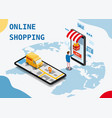 shopping online and online delivery concept vector image