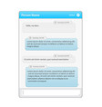 social network messenger concept frame vector image