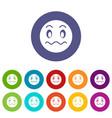 suspicious emoticon set icons vector image vector image