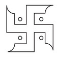 swastika line icon vector image