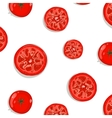 Tomato Slices Seamless Pattern Background vector image