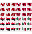 Tonga Albania UPA Mexico Set of 36 flags of the vector image vector image