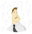 Very confused man vector image