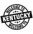 welcome to kentucky black stamp vector image vector image