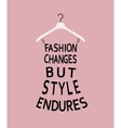 Woman fashion dress made from quote vector image vector image