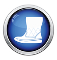 Woman fluffy ugg boot icon vector image