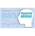 financial advisor financial advisor head vector image