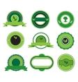 Set of green labels vector image