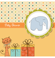 funny cartoon baby shower card vector image