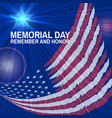 memorial day greeting card flag and star vector image