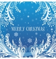 Abstract Blue Christmas Card vector image